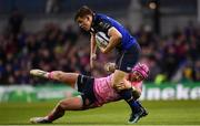 16 December 2017; Garry Ringrose of Leinster is tackled by Jack Nowell of Exeter Chiefs during the European Rugby Champions Cup Pool 3 Round 4 match between Leinster and Exeter Chiefs at the Aviva Stadium in Dublin. Photo by Ramsey Cardy/Sportsfile