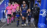 16 December 2017; Matchday mascots 9 year old Alex Deasy, left, from Clontarf, and 8 year old Hugh McNulty, from Ardclough, Co. Kildare, with captain Isa Nacewa ahead of the European Rugby Champions Cup Pool 3 Round 4 match between Leinster and Exeter Chiefs at the Aviva Stadium in Dublin. Photo by Ramsey Cardy/Sportsfile