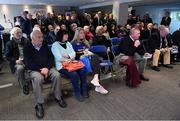 16 December 2017; A view of the audience in attendance at the Bank of Ireland Provincial Towns Cup Draw in Bank of Ireland Ballsbridge branch. The teams going head to head in the Bank of Ireland Provincial Towns Cup were revealed in a draw on Saturday 16th December ahead of the Leinster v Exeter match at the Aviva Stadium. Players Adam Byrne, Tom Daly and Peter Dooley were on hand to announce the first round of the Draw which was streamed via Facebook Live from the Ballsbridge Branch in Dublin to clubs and fans from around the province. Bank of Ireland has proudly partnered with Leinster Rugby since 2007 and recently announced a 5 year extension of their sponsorship through to the 2023 season. The partnership encompasses all Leinster Rugby activity, from the professional team right through to grassroots community, club and schools level. Bank of Ireland Branch in Ballsbridge, Dublin. Photo by Brendan Moran/Sportsfile
