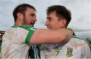 17 December 2017; Daryl Flynn, left, and Mark Dempsey of Moorefield celebrate after the AIB Leinster GAA Football Senior Club Championship Final match between Moorefield and St Loman's at O'Moore Park in Portlaoise, Co Laois. Photo by Piaras Ó Mídheach/Sportsfile