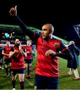 17 December 2017; Simon Zebo of Munster acknowledges the crowd after the European Rugby Champions Cup Pool 4 Round 4 match between Leicester Tigers and Munster at Welford Road in Leicester, England. Photo by Brendan Moran/Sportsfile