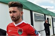 16 July 2017; Sean Maguire of Cork City before the start of the SSE Airtricity League Premier Division match between Bray Wanderers and Cork City at the Carlisle Grounds in Bray, Co. Wicklow. Photo by David Maher/Sportsfile