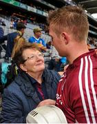 6 August 2017; Joe Canning of Galway is congratulated by his mother Josephine, following the GAA Hurling All-Ireland Senior Championship Semi-Final match between Galway and Tipperary at Croke Park in Dublin. Photo by Sam Barnes/Sportsfile