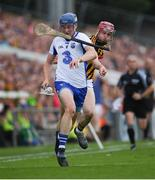 8 July 2017; Robert Lennon of Kilkenny looses his hurley as he pursues Austin Gleeson of Waterford during the GAA Hurling All-Ireland Senior Championship Round 2 match between Waterford and Kilkenny at Semple Stadium in Thurles, Co Tipperary. Photo by Ray McManus/Sportsfile