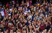 3 September 2017; Galway captain David Burke lifts the Liam MacCarthy cup after the GAA Hurling All-Ireland Senior Championship Final match between Galway and Waterford at Croke Park in Dublin. Photo by Eóin Noonan/Sportsfile