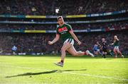 17 September 2017; Lee Keegan of Mayo celebrates after scoring his side's first goal in the 54th minute during the GAA Football All-Ireland Senior Championship Final match between Dublin and Mayo at Croke Park in Dublin. Photo by Sam Barnes/Sportsfile
