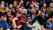 6 August 2017; Joe Canning of Galway celebrates scoring the winning point during the GAA Hurling All-Ireland Senior Championship Semi-Final match between Galway and Tipperary at Croke Park in Dublin. Photo by Piaras Ó Mídheach/Sportsfile