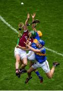 6 August 2017; Adrian Tuohy of Galway in action against Séamus Callanan, left, and John McGrath of Tipperary during the GAA Hurling All-Ireland Senior Championship Semi-Final match between Galway and Tipperary at Croke Park in Dublin. Photo by Daire Brennan/Sportsfile