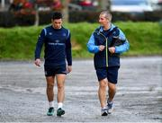 19 December 2017; Noel Reid, left, with senior coach Stuart Lancaster during Leinster rugby squad training at UCD in Dublin. Photo by Brendan Moran/Sportsfile