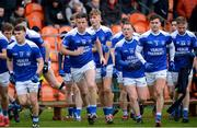 26 November 2017; The Cavan Gaels players before the AIB Ulster GAA Football Senior Club Championship Final match between Slaughtneil and Cavan Gaels at the Athletic Grounds in Armagh. Photo by Oliver McVeigh/Sportsfile