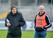 26 November 2017; Slaughtneil manager Mickey Moran and assistant manager John Joe Kearney during the AIB Ulster GAA Football Senior Club Championship Final match between Slaughtneil and Cavan Gaels at the Athletic Grounds in Armagh. Photo by Oliver McVeigh/Sportsfile