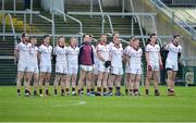 26 November 2017; Slaughtneil stand for the anthem prior to the AIB Ulster GAA Football Senior Club Championship Final match between Slaughtneil and Cavan Gaels at the Athletic Grounds in Armagh. Photo by Oliver McVeigh/Sportsfile