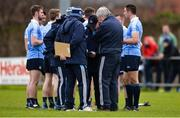 23 December 2017; Dublin manager Jim Gavin in discussion with backrom staff at half-time during the Annual Dub Stars Football Challenge match between Dublin and Dub Stars at St Vincent's GAA Club in Dublin. Photo by Piaras Ó Mídheach/Sportsfile