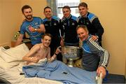 25 December 2017; Dublin manager Jim Gavin, captain Stephen Cluxton, Jack McCaffrey, Cormac Costello, Michael Fitzsimons with Anthony McCormack, from Donaghmede, Dublin, and the Sam Maguire Cup  during the Dublin Football team visit to Beaumont Hospital in Dublin. Photo by Ray McManus/Sportsfile