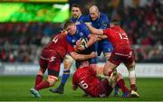 26 December 2017; Tadhg Furlong of Leinster is tackled by Jean Kleyn, left, and Niall Scannell, centre, and Sammy Arnold of Munster during the Guinness PRO14 Round 11 match between Munster and Leinster at Thomond Park in Limerick. Photo by Ramsey Cardy/Sportsfile