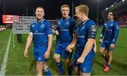 26 December 2017; Leinster players, from left, Rory O'Loughlin, Dan Leavy and James Tracy leave the pitch after the Guinness PRO14 Round 11 match between Munster and Leinster at Thomond Park in Limerick. Photo by Brendan Moran/Sportsfile