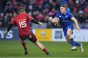 26 December 2017; Jordan Larmour of Leinster in action against Andrew Conway of Munster during the Guinness PRO14 Round 11 match between Munster and Leinster at Thomond Park in Limerick. Photo by Brendan Moran/Sportsfile