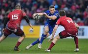 26 December 2017; Jordan Larmour of Leinster in action against Andrew Conway, left, and Darren Sweetnam of Munster during the Guinness PRO14 Round 11 match between Munster and Leinster at Thomond Park in Limerick. Photo by Brendan Moran/Sportsfile