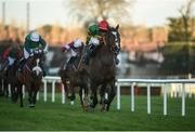27 December 2017; Anibale Fly, with Donagh Meyler up, on their way to winning the Paddy Power Steeplechase (Grade B) on day 2 of the Leopardstown Christmas Festival at Leopardstown in Dublin. Photo by Barry Cregg/Sportsfile