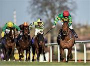 29 December 2017; Spider Web, right, with Shane Crimin up, on their way to winning the Adare Manor Opportunity Handicap Steeplechase on day 4 of the Leopardstown Christmas Festival at Leopardstown in Dublin. Photo by Seb Daly/Sportsfile