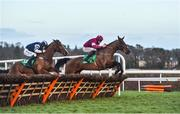 29 December 2017; Mind's Eye, with Davy Russell up, right, jumps the last on their way to winning the Top Oil Irish EBF Novice Handicap Hurdle on day 4 of the Leopardstown Christmas Festival at Leopardstown in Dublin. Photo by David Fitzgerald/Sportsfile