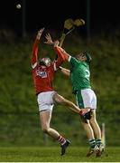 30 December 2017; Sean Finn of Limerick in action against Jack O'Connor of Cork during the Munster Senior Hurling League match between Cork and Limerick at Mallow in Cork. Photo by Eóin Noonan/Sportsfile