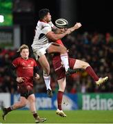 1 January 2018; Charles Piutau of Ulster in action against JJ Hanrahan of Munster during the Guinness PRO14 Round 12 match between Ulster and Munster at Kingspan Stadium in Belfast. Photo by Oliver McVeigh/Sportsfile