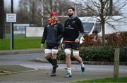 3 January 2018; CJ Stander and Jean Kleyn arrive for Munster Rugby squad training at the University of Limerick in Limerick. Photo by Diarmuid Greene/Sportsfile