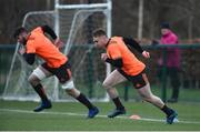 3 January 2018; Rory Scannell and Sean O'Connor during Munster Rugby squad training at the University of Limerick in Limerick. Photo by Diarmuid Greene/Sportsfile