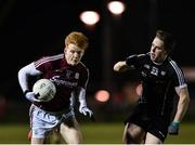 3 January 2018; Peter Cooke of Galway in action against Paul McNamara of Sligo during the Connacht FBD League Round 1 match between Sligo and Galway at the Connacht GAA Centre in Bekan, Co. Mayo. Photo by Seb Daly/Sportsfile