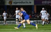 6 January 2018; Jordan Larmour of Leinster scores his side's first try during the Guinness PRO14 Round 13 match between Leinster and Ulster at the RDS Arena in Dublin. Photo by Ramsey Cardy/Sportsfile