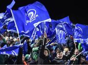 6 January 2018; Leinster supporters celebrate their side's second try during the Guinness PRO14 Round 13 match between Leinster and Ulster at the RDS Arena in Dublin. Photo by David Fitzgerald/Sportsfile