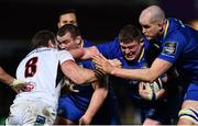 6 January 2018; Tadhg Furlong of Leinster supported by Devin Toner is tackled by Jean Deysel of Ulster during the Guinness PRO14 Round 13 match between Leinster and Ulster at the RDS Arena in Dublin. Photo by Ramsey Cardy/Sportsfile
