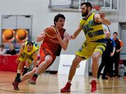 6 January 2018; Ciaran Roe of Pyrobel Killester in action against Mariusz Markowicz of UCD Marian during the Hula Hoops Men's Pat Duffy National Cup semi-final match between Pyrobel Killester and UCD Marian at UCC Arena in Cork. Photo by Brendan Moran/Sportsfile