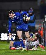 6 January 2018; Barry Daly of Leinster is tackled by Stuart McCloskey of Ulster during the Guinness PRO14 Round 13 match between Leinster and Ulster at the RDS Arena in Dublin. Photo by David Fitzgerald/Sportsfile