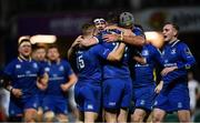 6 January 2018; Leinster players celebrate a try by Jonathan Sexton during the Guinness PRO14 Round 13 match between Leinster and Ulster at the RDS Arena in Dublin. Photo by Ramsey Cardy/Sportsfile