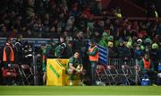 6 January 2018; Quinn Roux of Connacht sits in the sin bin after being shown a yellow card by referee David Wilkinson for his tackle on Keith Earls of Munster during the Guinness PRO14 Round 13 match between Munster and Connacht at Thomond Park in Limerick. Photo by Diarmuid Greene/Sportsfile