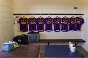 7 January 2018; Wexford team dressing room before the Bord na Mona O'Byrne Cup Group 1 Third Round match between Wexford and Dublin at St. Patricks Park in Wexford. Photo by Matt Browne/Sportsfile