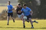 7 January 2018; Colm Basquel of Dublin in action against Mark O'Neill of Wexford during the Bord na Mona O'Byrne Cup Group 1 Third Round match between Wexford and Dublin at St. Patricks Park in Wexford. Photo by Matt Browne/Sportsfile