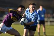 7 January 2018; Adam Rogers of Dublin in action against Barry O'Connor of Wexford during the Bord na Mona O'Byrne Cup Group 1 Third Round match between Wexford and Dublin at St. Patricks Park in Wexford. Photo by Matt Browne/Sportsfile