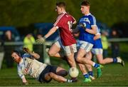 7 January 2018; James Sheerin of Westmeath has a shot blocked by Eoghan Keogh of Laois during the Bord na Mona O'Byrne Cup Group 4 Third Round match between Laois and Westmeath at Stradbally in Laois. Photo by Sam Barnes/Sportsfile