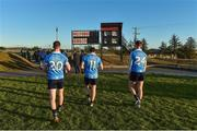 7 January 2018; Dublin players from left, Eoin O'Brien, Colm Basquel and Kevin Vallaghan leave the pitch after the Bord na Mona O'Byrne Cup Group 1 Third Round match between Wexford and Dublin at St. Patricks Park in Wexford. Photo by Matt Browne/Sportsfile
