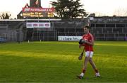 7 January 2018; Eoin Cadogan of Cork leaves the pitch after the Co-op Superstores Munster Senior Hurling League match between Clare and Cork at Cusack Park in Clare. Photo by Diarmuid Greene/Sportsfile