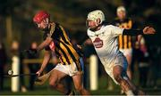 7 January 2018; Bill Sheehan of Kilkenny in action against Paul Sullivan of Kildare during the Bord na Mona Walsh Cup Group 2 Third Round match between Kilkenny and Kildare at St Lachtains GAA Club, Freshford, Co. Kilkenny. Photo by Ray McManus/Sportsfile
