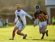 7 January 2018; Martin Fitzgerald of Kildare in action against Conor Delaney of Kilkenny during the Bord na Mona Walsh Cup Group 2 Third Round match between Kilkenny and Kildare at St Lachtains GAA Club, Freshford, Co. Kilkenny. Photo by Ray McManus/Sportsfile