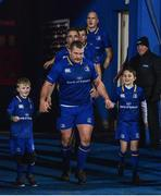 6 January 2018; Matchday mascots 7 year old Harry McGeehan, left, from Greystones, Co. Wicklow, and 10 year old Bobby McCarthy, from Rathmines, Dublin with Leinster captain Jack McGrath ahead of the Guinness PRO14 Round 13 match between Leinster and Ulster at the RDS Arena in Dublin. Photo by Ramsey Cardy/Sportsfile *** NO REPRODUCTION FEE ***