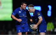 6 January 2018; Jack McGrath, left, and James Tracy of Leinster during the Guinness PRO14 Round 13 match between Leinster and Ulster at the RDS Arena in Dublin. Photo by Ramsey Cardy/Sportsfile