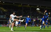 6 January 2018; Christian Lealiifano of Ulster in action against Scott Fardy of Leinster during the Guinness PRO14 Round 13 match between Leinster and Ulster at the RDS Arena in Dublin. Photo by Ramsey Cardy/Sportsfile