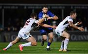 6 January 2018; Robbie Henshaw of Leinster is tackled by Stuart McCloskey of Ulsterduring the Guinness PRO14 Round 13 match between Leinster and Ulster at the RDS Arena in Dublin. Photo by Ramsey Cardy/Sportsfile