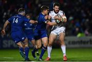 6 January 2018; Stuart McCloskey of Ulster is tackled by Garry Ringrose of Leinster during the Guinness PRO14 Round 13 match between Leinster and Ulster at the RDS Arena in Dublin. Photo by Ramsey Cardy/Sportsfile